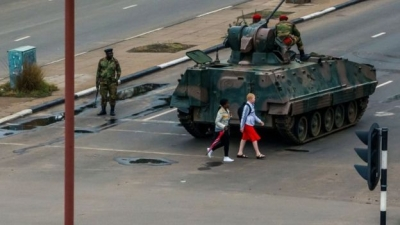 Troops are patrolling Harare