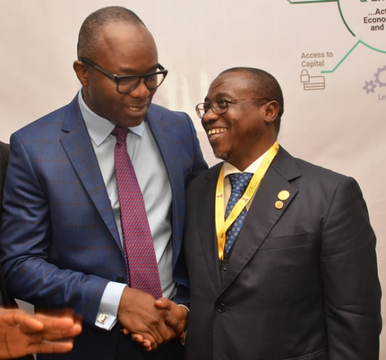 Ibe Kachikwu and Maikanti Baru: SMILING FOR THE CAMERAS
