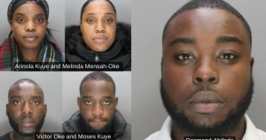 London court jails five Nigerians for £610,000 banking fraud