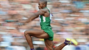 Tosin Oke, 36, is the reigning African triple jump champion