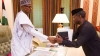 President Muhammadu Buhari and Vice President Yemi Osinbajo at the president's office at the State House, Abuja on March 13, 2017.