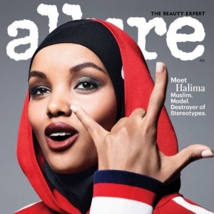 Hijab-wearing model appears on front page of major US magazine