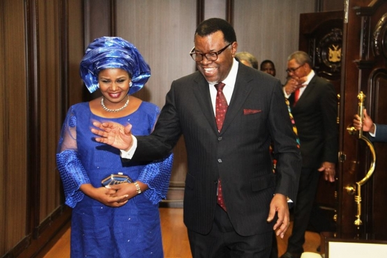 OFFICIAL PRESENTATION CEREMONY OF AMBASSADOR LILIAN ONOH AT STATE HOUSE, NAMIBIA