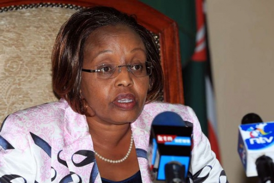 Labour Cabinet Secretary Phyllis Kandie at Social Security House in Nairobi in December 2016. PHOTO | EVANS HABIL | NATION MEDIA GROUP