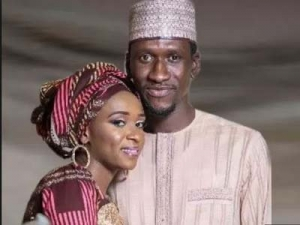 Maryam Sanda with her late husband, Bilyamin Bello