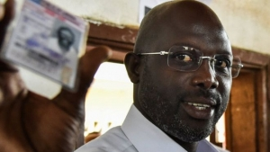 George Weah is senator for Montserrado County in Liberia