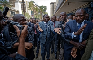 The opposition leader Raila Odinga arriving at the Supreme Court in Nairobi on Friday. The court nullified last month's presidential election. Credit Ben Curtis/Associated Press