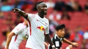 Guinea midfielder Naby Keita is staying at Leipzig, his coach says